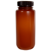 500mL Nalgene™ Wide Mouth Translucent Amber HDPE Bottle with 53/415 Cap