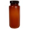 500mL Nalgene™ Wide Mouth Translucent Amber HDPE Bottle with 53/415 Cap