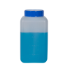 1000mL Azlon® HDPE Rectangular Wide Mouth Graduated Bottle with Cap