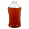 32 oz. Ribbed Hourglass Sauce Bottle with 38/400 Neck (Cap Sold Separately)