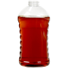 48 oz. Ribbed Hourglass Sauce Bottle with 38/400 Neck (Cap Sold Separately)