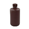 2 oz./60mL Nalgene™ Narrow Mouth Amber Bottles with 20mm Caps (Sold by Case)