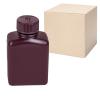 8 oz./250mL Nalgene™ Amber Rectangular Bottles with 38mm Caps - Case of 72