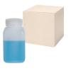 32 oz./1000mL Nalgene™ Wide Mouth Polyethylene Square Bottles with 63mm Caps - Case of 24