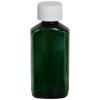 2 oz. Dark Green PET Drug Oblong Bottle with 20/410 CRC Cap