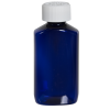 2 oz. Cobalt Blue PET Drug Oblong Bottle with 20/410 CRC Cap