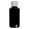 2 oz. Black PET Drug Oblong Bottle with 20/410 CRC Cap