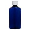 6 oz. Cobalt Blue PET Drug Oblong Bottle with 24/410 CRC Cap