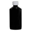 6 oz. Black PET Drug Oblong Bottle with 24/410 CRC Cap
