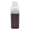 16 oz. Tall Square Pint HDPE Beverage Bottle with 38mm SSJ Neck (Cap Sold Separately)