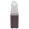 32 oz. Tall Square Quart HDPE Beverage Bottle with 38mm SSJ Neck (Cap Sold Separately)