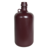 8 Liter Diamond® RealSeal™ Polypropylene Amber Large Format Round Bottle with 53mm Cap