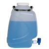 10 Liter Diamond® RealSeal™ Rectangular Polypropylene Carboy with Spigot