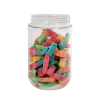 16 oz. Clear PET Jar with 63/400 Neck (Caps Sold Separately)