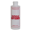 "4 oz. Natural HDPE Cylinder Bottle with 24/410 Neck & Red ""Cuticle Softener"" Embossed (Caps Sold Separately)"