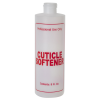 "8 oz. Natural HDPE Cylinder Bottle with 24/410 Neck & Red ""Cuticle Softener"" Embossed (Caps Sold Separately)"