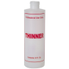 """8 oz. Natural HDPE Cylinder Bottle with 24/410 Neck & Red """"Thinner"""" Embossed (Caps Sold Separately)"""