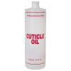 "16 oz. Natural HDPE Cylinder Bottle with 24/410 Neck & Red ""Cuticle Oil"" Embossed (Caps Sold Separately)"