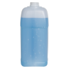 128 oz./1 Gallon Slant Handle White HDPE F-Style Jug with 38/400 Plain Cap