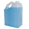 128 oz./1 Gallon Slant Handle Natural HDPE F-Style Jug with 38/400 Neck (Cap Sold Separately)
