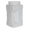 128 oz. White PET Square Pinch Grip-It Jar with 120/400 Cap