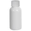 1 oz. White PET Traditional Boston Round Bottle with 20/400 Plain Cap