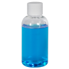 2  oz. Clear PET Traditional Boston Round Bottle with 20/400 Plain Cap