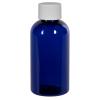 2 oz. Cobalt Blue PET Traditional Boston Round Bottle with 20/400 Plain Cap