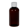 2 oz. Light Amber PET Traditional Boston Round Bottle with 20/400 Plain Cap