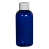 4 oz. Cobalt Blue PET Traditional Boston Round Bottle with 24/410 Plain Cap