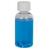 2 oz. Clear PET Traditional Boston Round Bottle with 20/400 CRC Cap