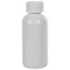4 oz. White PET Traditional Boston Round Bottle with 24/410 CRC Cap