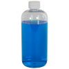 16 oz. Clear PET Traditional Boston Round Bottle with 24/410 CRC Cap