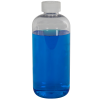 16 oz. Clear PET Traditional Boston Round Bottle with 28/410 CRC Cap