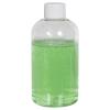 6 oz. Clear PET Squat Boston Round Bottle with 24/410 Plain Cap