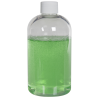 8 oz. Clear PET Squat Boston Round Bottle with 24/410 Plain Cap