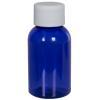 1 oz. Cobalt Blue PET Squat Boston Round Bottle with 20/410 Plain Cap