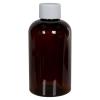 6 oz. Light Amber PET Squat Boston Round Bottle with 24/410 Plain Cap