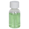 1 oz. Clear PET Squat Boston Round Bottle with 20/410 CRC Cap