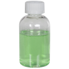 4 oz. Clear PET Squat Boston Round Bottle with 20/410 CRC Cap