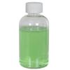 4 oz. Clear PET Squat Boston Round Bottle with 24/410 CRC Cap