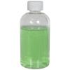 6 oz. Clear PET Squat Boston Round Bottle with 24/410 CRC Cap