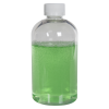 8 oz. Clear PET Squat Boston Round Bottle with 24/410 CRC Cap