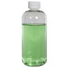 12 oz. Clear PET Squat Boston Round Bottle with 24/410 CRC Cap