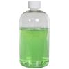 16 oz. Clear PET Squat Boston Round Bottle with 24/410 CRC Cap