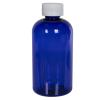 8 oz. Cobalt Blue PET Squat Boston Round Bottle with 24/410 CRC Cap