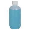 8 oz. HDPE Natural Boston Round Bottle with 24/410 Plain Cap