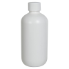 8 oz. HDPE White Boston Round Bottle with 24/410 Plain Cap with F217 Liner