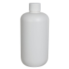 12 oz. HDPE White Boston Round Bottle with 24/410 Plain Cap