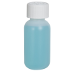 1 oz. HDPE Natural Boston Round Bottle with 20/410 CRC Cap
